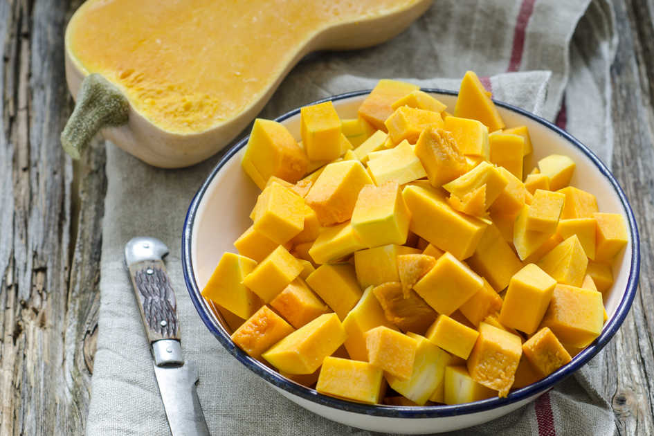 How to cut butternut squash