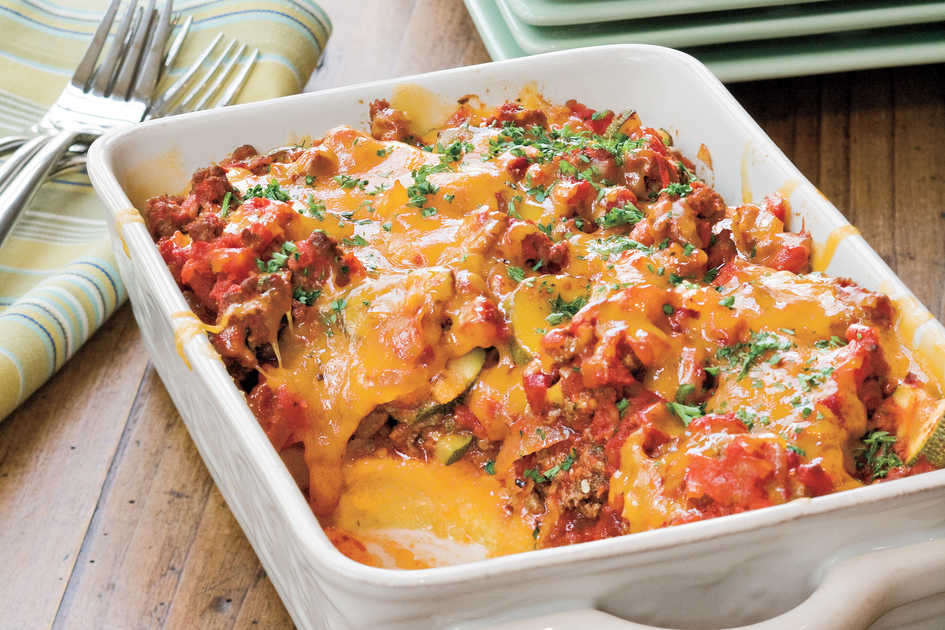 Tomato and Beef Casserole with Polenta Crust Recipe