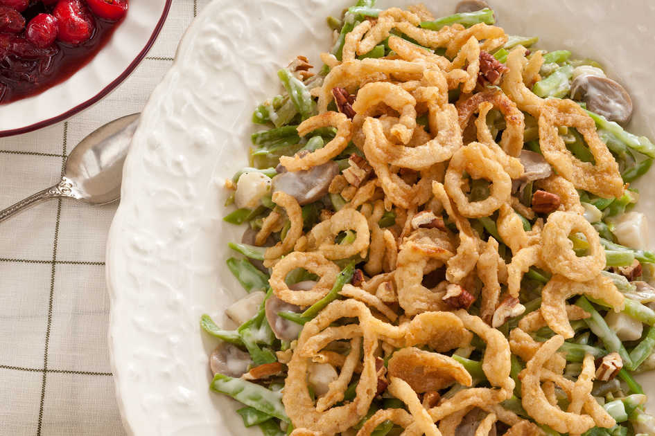 Slow-Cooker Green Bean Casserole and Cranberry Sauce