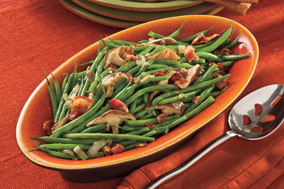 Christmas Recipes: Green Beans With Mushrooms and Bacon Recipes