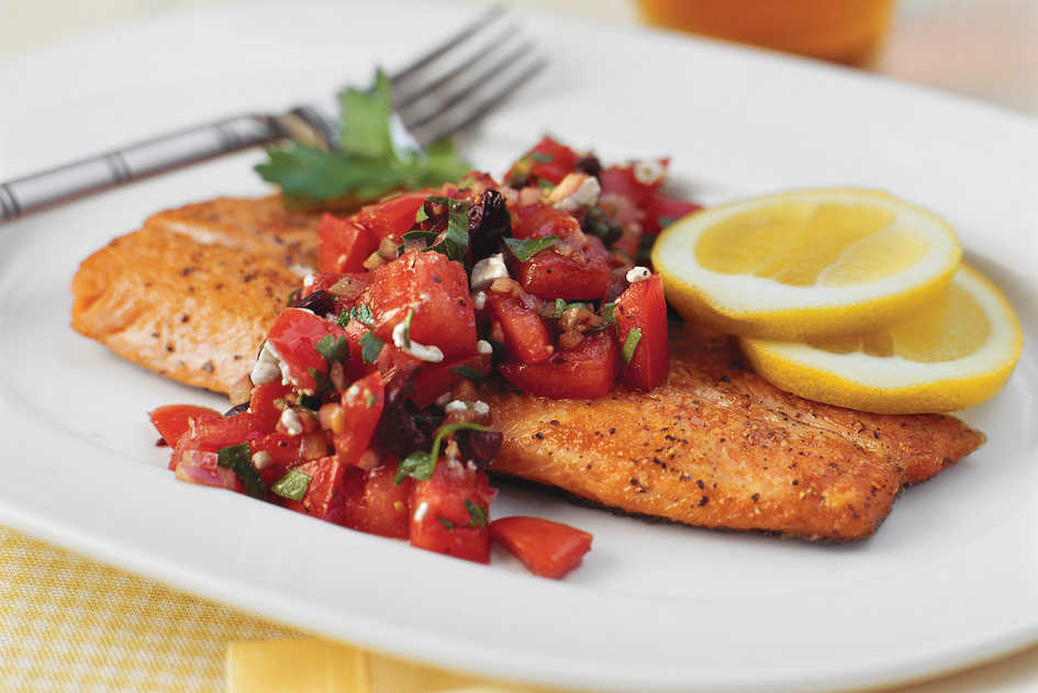 Top-Rated Main Dishes: Pan-Seared Trout With Italian-Style Salsa