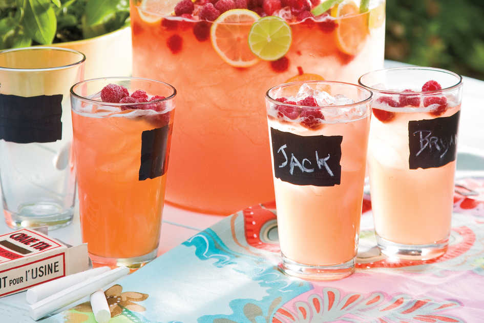 Wedding Bridal Shower Ideas: Chalkboard-Style Glasses