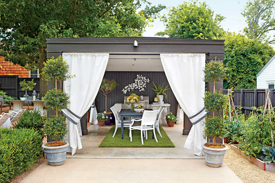 Indoor Outdoor Gardener Outdoor rooms southern living garden cabana workwithnaturefo