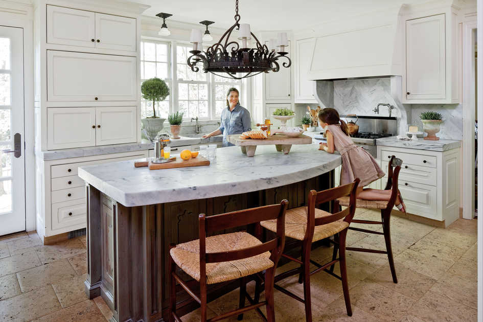 Antique Kitchen with Family-Friendly Design