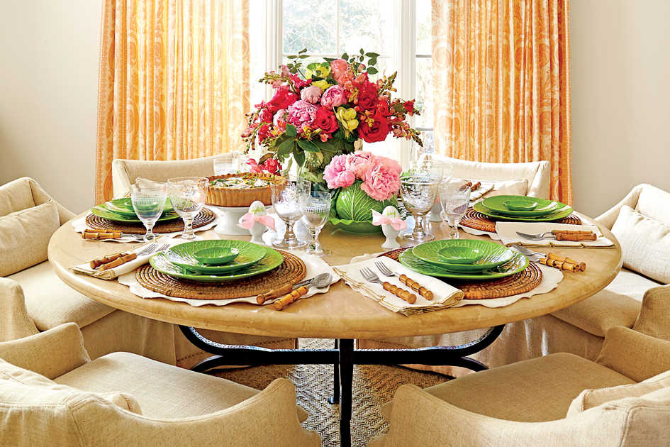 Easter recipes and ideas southern living for Easter dinner table setting ideas