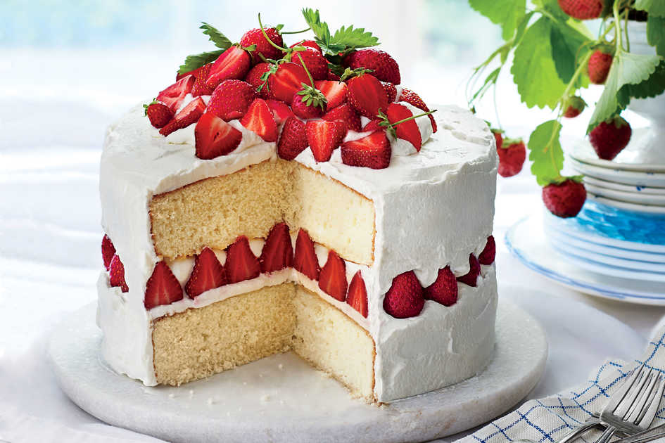 Strawberry And Coconut Sponge Cake