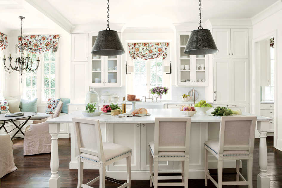 Suzanne Kasler White Kitchen Makeover