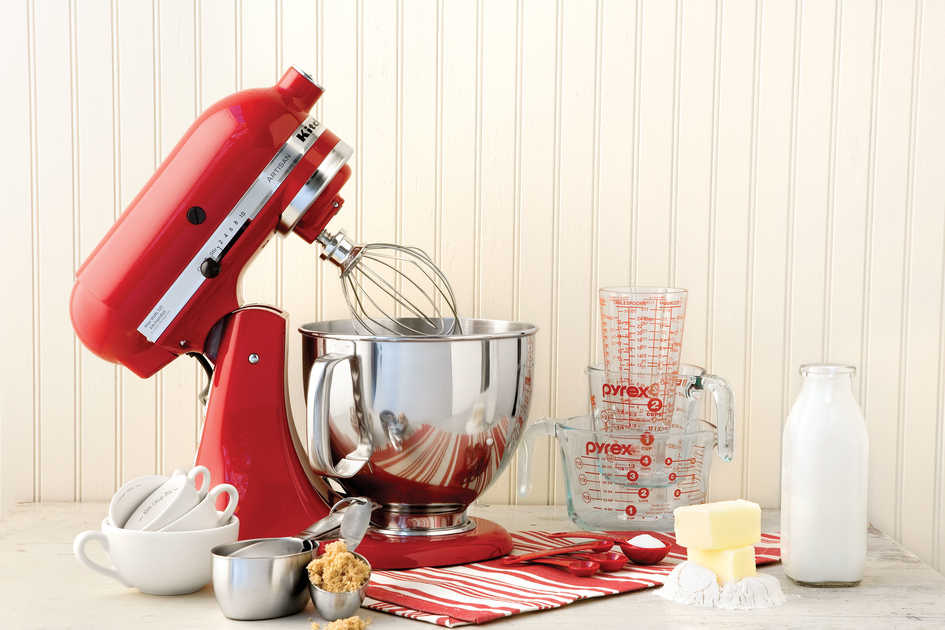 Stand Mixer and Baking Ingredients