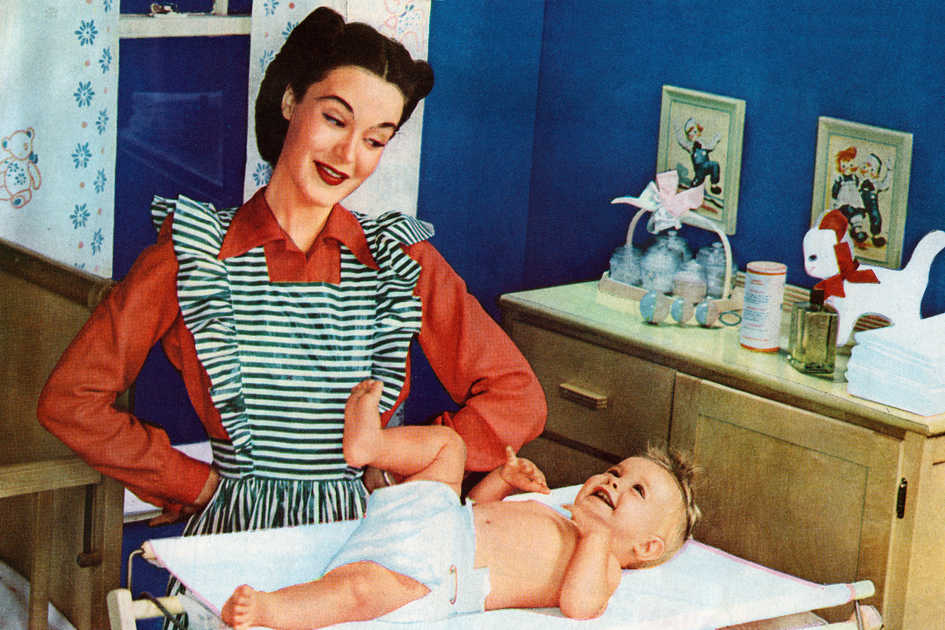 Vintage Mother and Baby