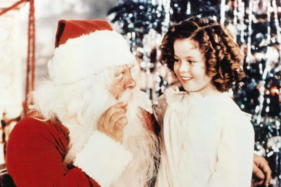 Shirley Temple and Santa Clause