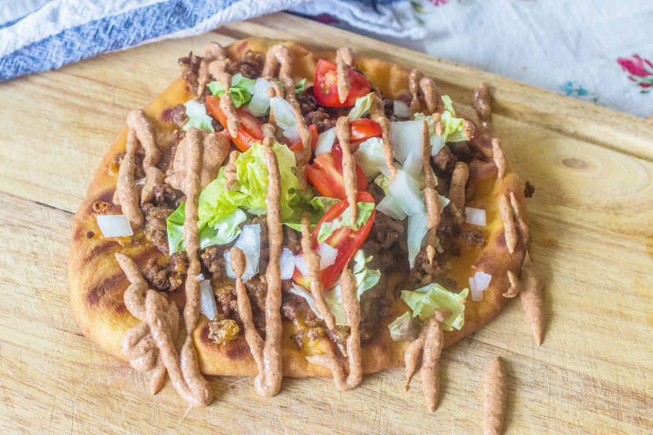 Grilled Flatbread Taco Pizza