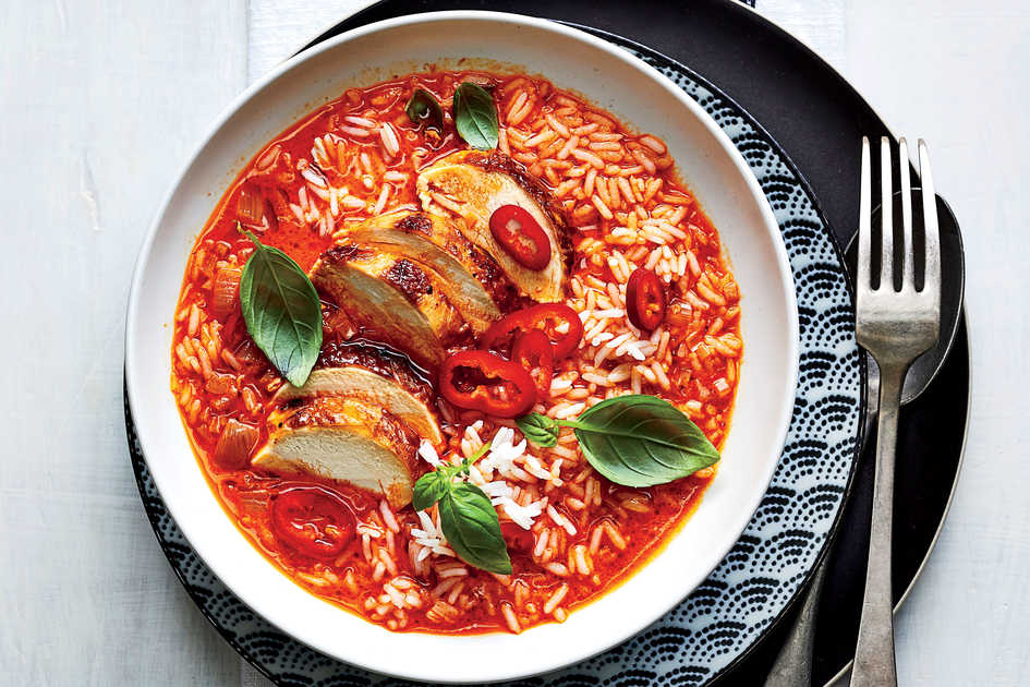 Spicy Red Curry with Chicken