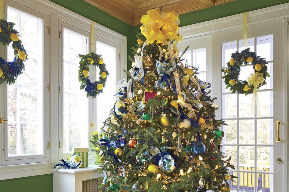 Natasha Lawler Charlottesville House at Christmas Lemon/Citrus Christmas Tree