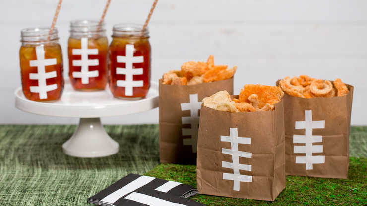 DIY Football Bags and Mason Jars